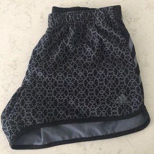 adidas Black and grey pattern shorts